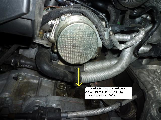 Engine Oil Leaks from Fuel Pump