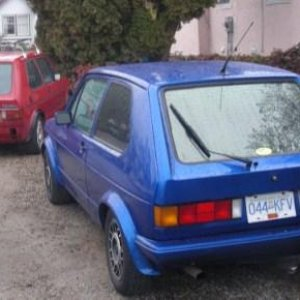 couple of rabbit hangin' mine 84 gti, my friends,78 (roof rack)